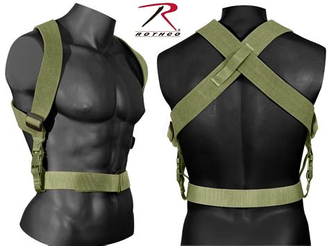Olive Drab Tactical Combat Suspenders - Rothco Adjustable