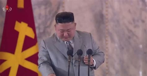 Kim Jong Un sheds tears in rare apology for his leadership