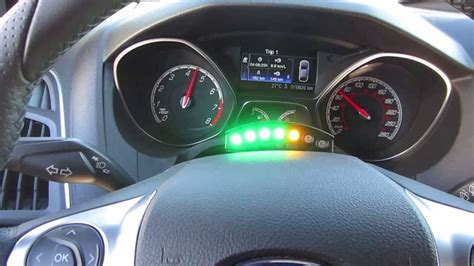 Ecliptech shift light fitted to a 2013 ford focus ST - YouTube