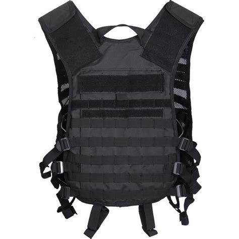 Black - Tactical Lightweight MOLLE Utility Vest - Army