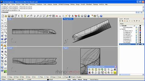 Demo Rhino sections and linesplans - YouTube