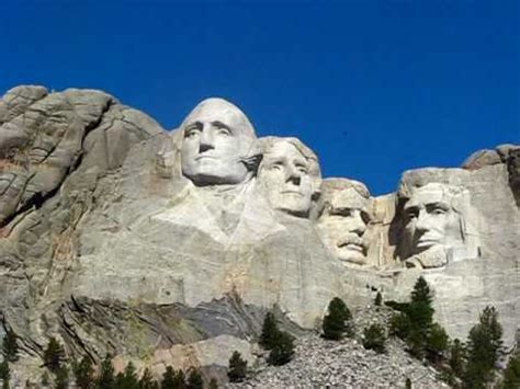 Close-up of Presidents faces Mount Rushmore - YouTube